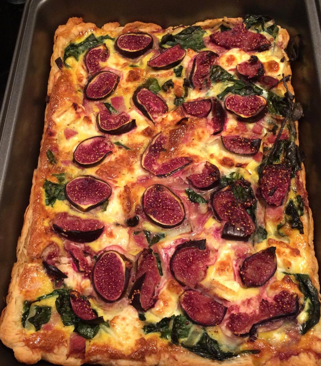 Savory Figs Tart - Tarta de Higos Salada